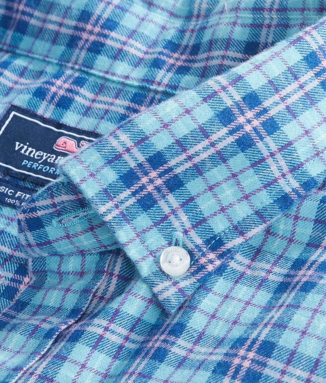 Old Coast Road Plaid Performance Flannel Classic Murray Shirt