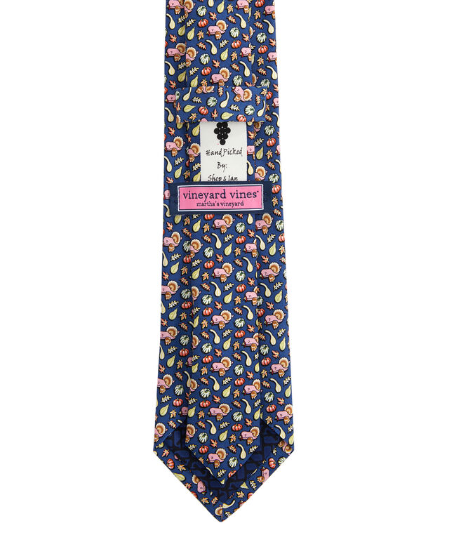 Boys Gourds & Turkey Printed Tie