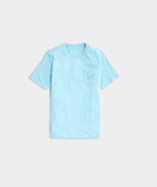 Boys' Heathered Vintage Whale Short-Sleeve Pocket Tee