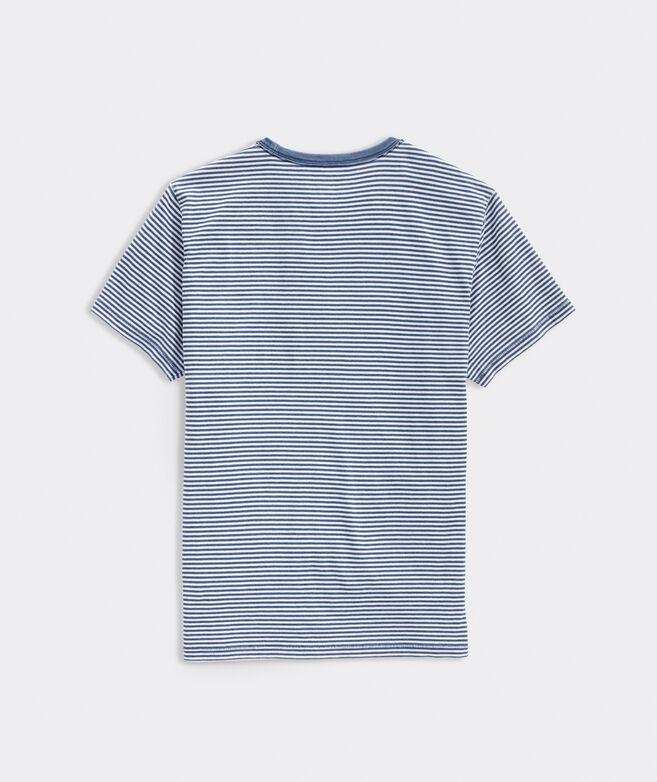 Indigo Stripe Short-Sleeve Island Tee