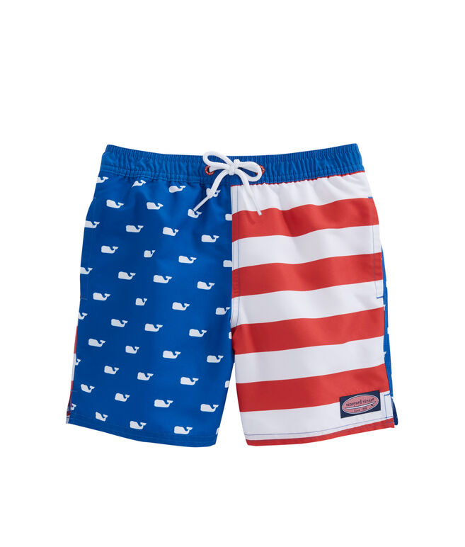 Boys Whale Flag Chappy Trunks