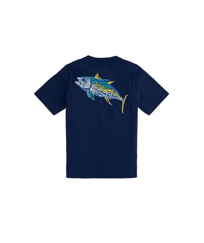 Boys' Tuna Icon Fill Short-Sleeve Pocket T-Shirt
