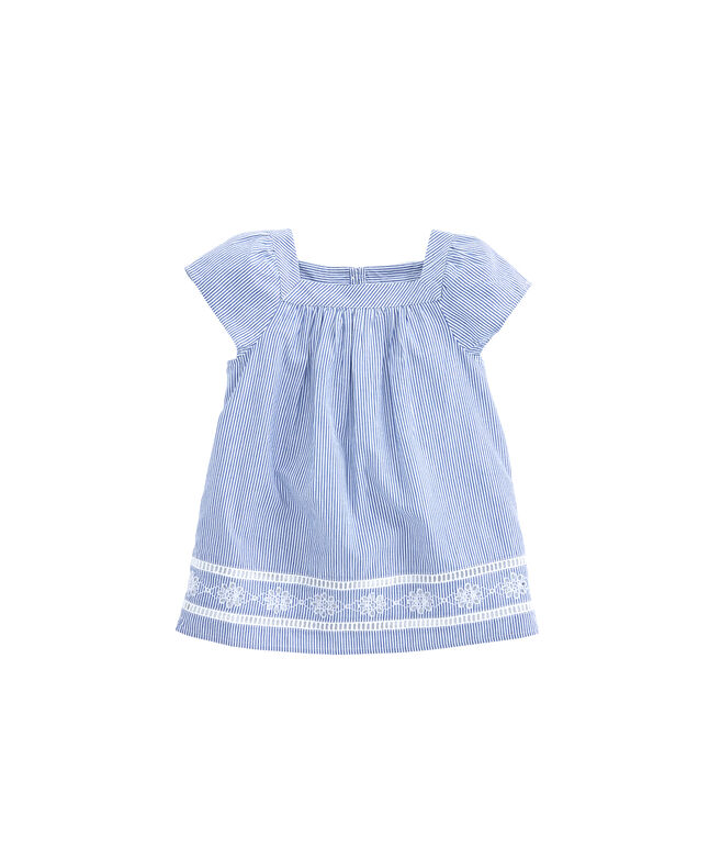 Girls Square Neck Embroidered Top