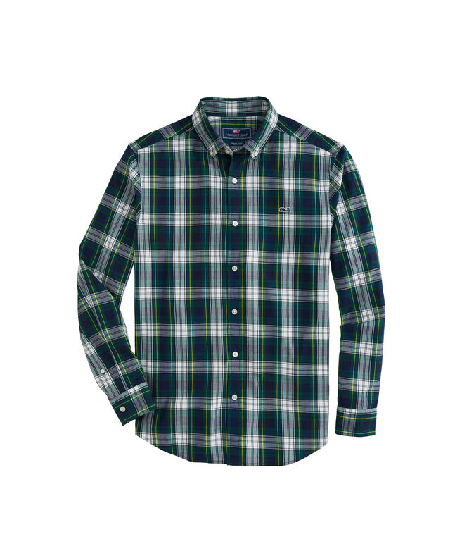 OUTLET Classic Fit Grove Island Twill Whale Shirt