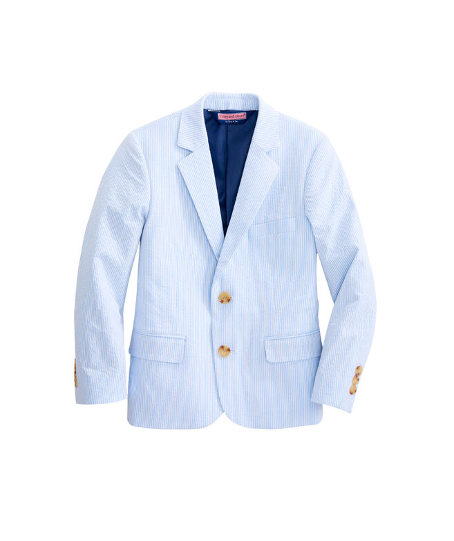 Boys Blue & White Seersucker Sportcoat (8 - 18)
