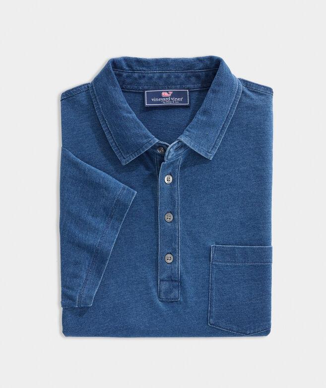 Dyed Jersey Indigo Polo