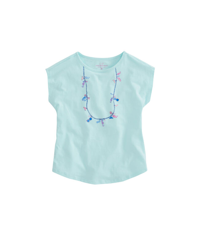 Girls Beach Icon Necklace Swing Tee