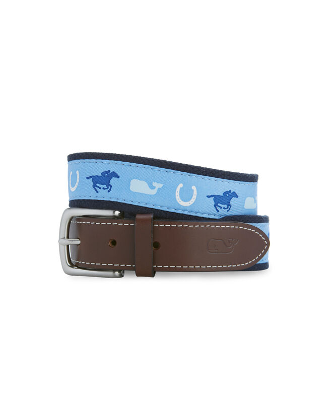 Kentucky Derby Derby Day Canvas Club Belt