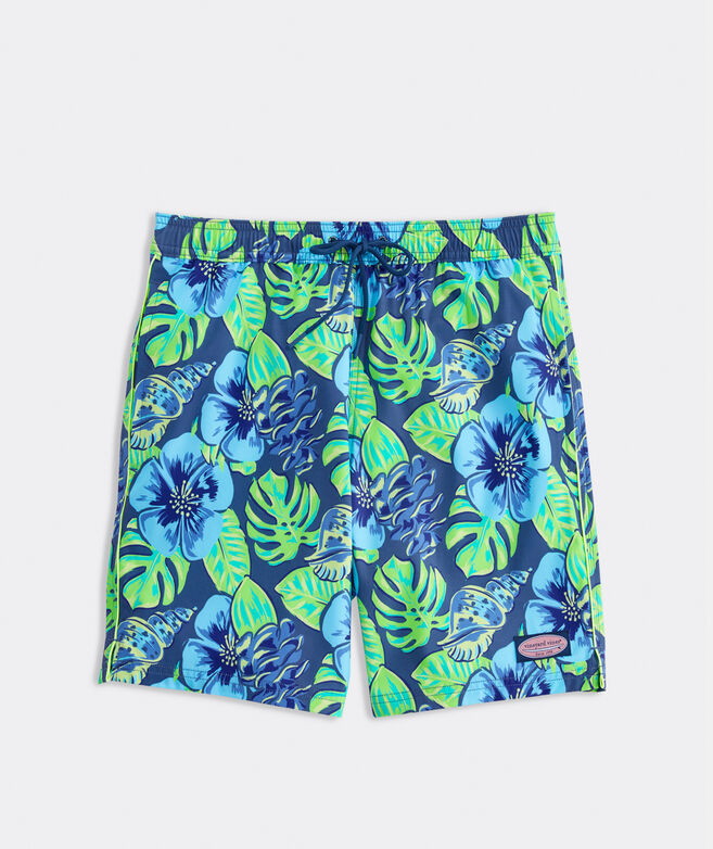 7 Inch Printed Piped Chappy Trunks