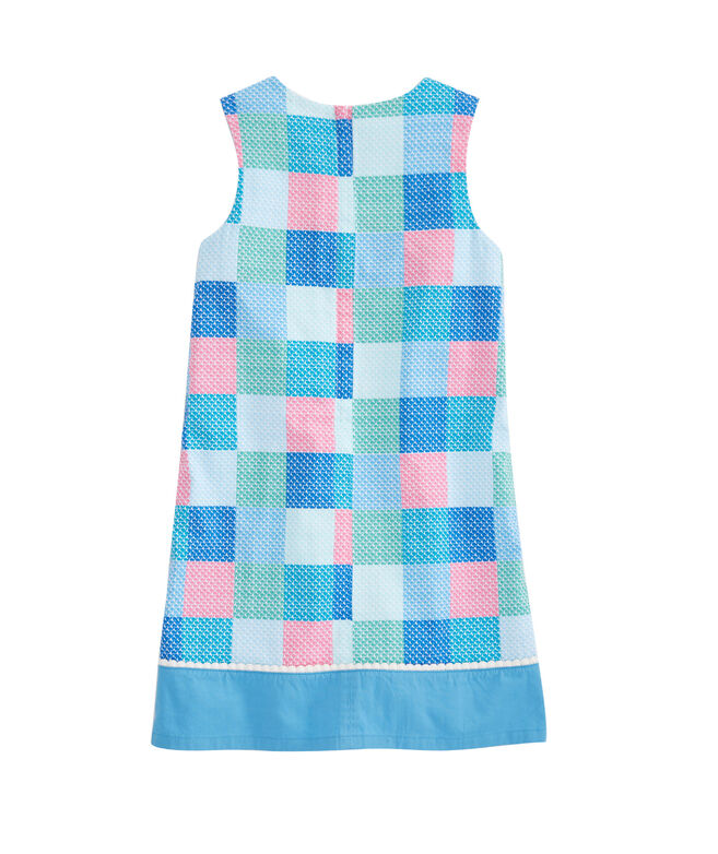 Girls Patchwork Whale Shift Dress