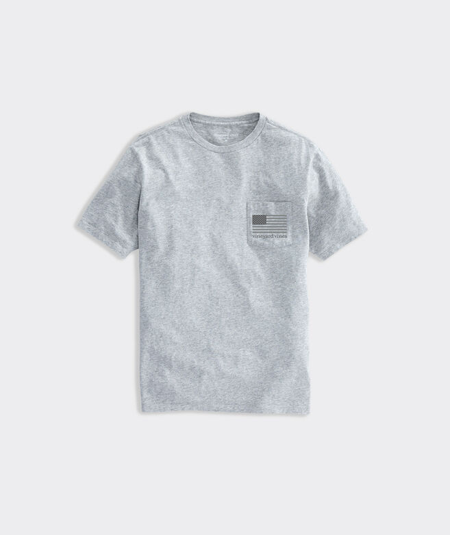 Limited-Edition USA Tonal Flag Short-Sleeve Pocket Tee