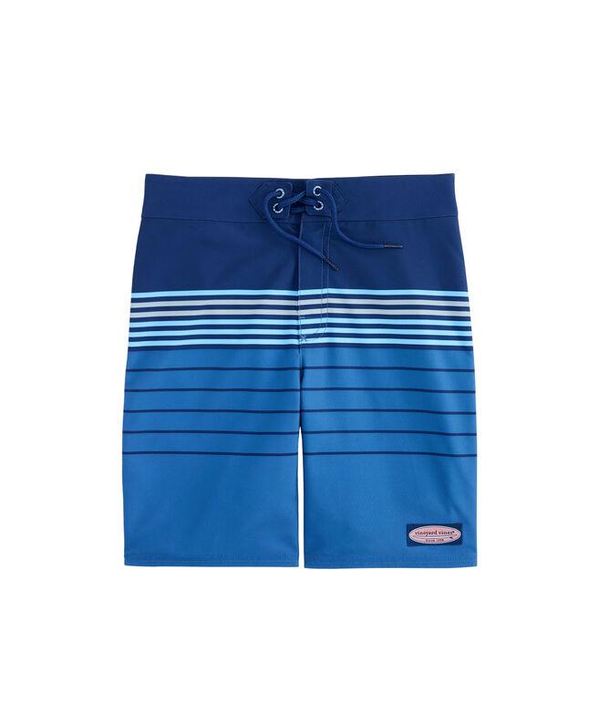 Boys Stripe Stretch Board Shorts