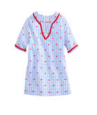 Girls Whale Print Cotton Tunic