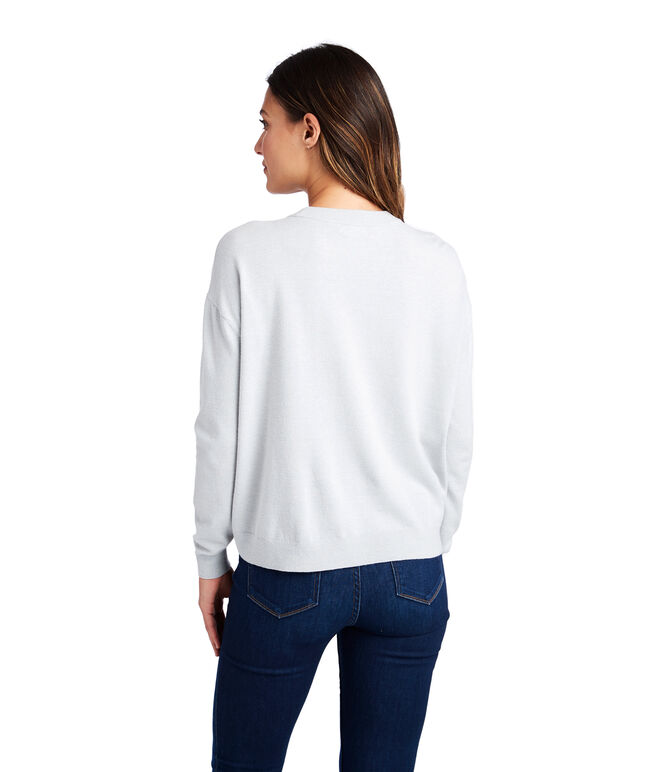 Crewneck Patch Pocket Sweater