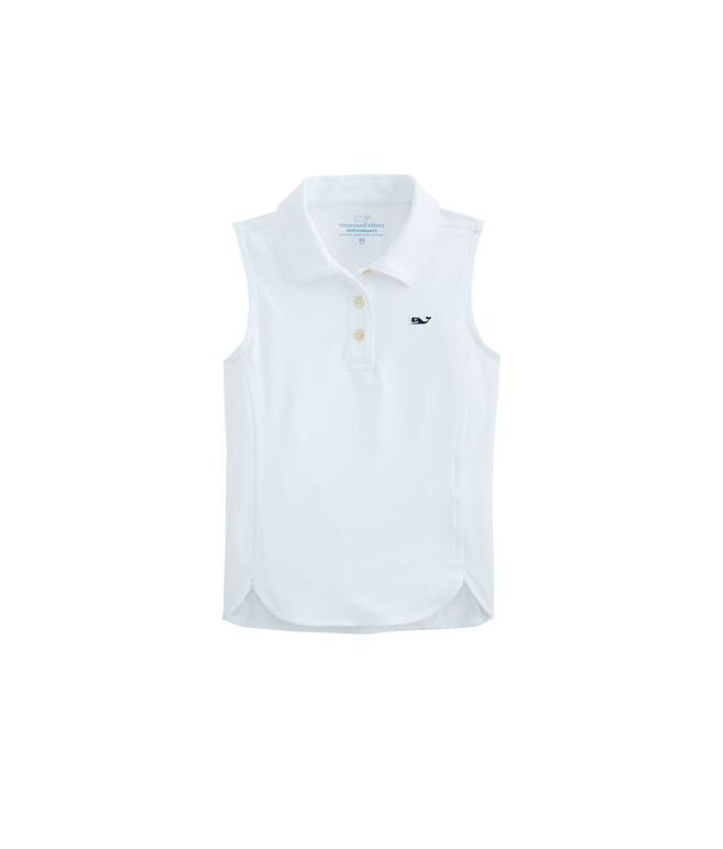 Girls Sleeveless Polo