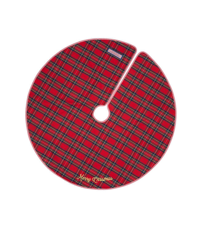 Merry Plaid Tree Skirt