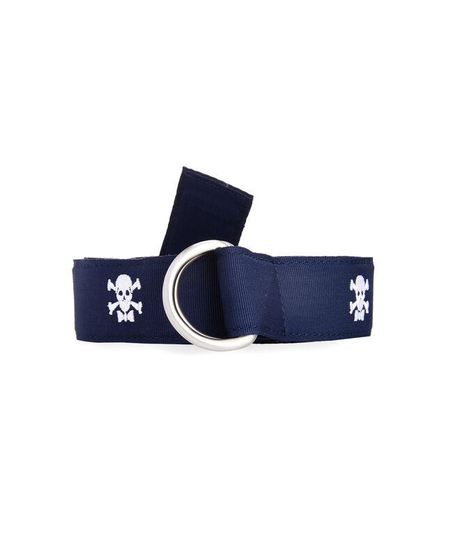Boys Skull & Crossbones D-Ring Belt