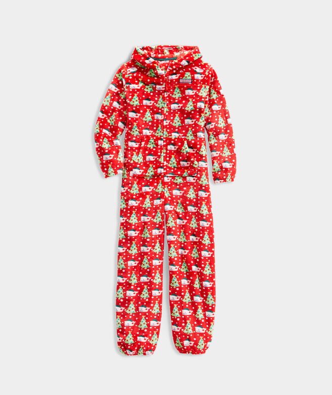 Kids' High Pile Hooded One-Piece