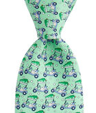 Boys Golf Cart & Tree Printed Tie
