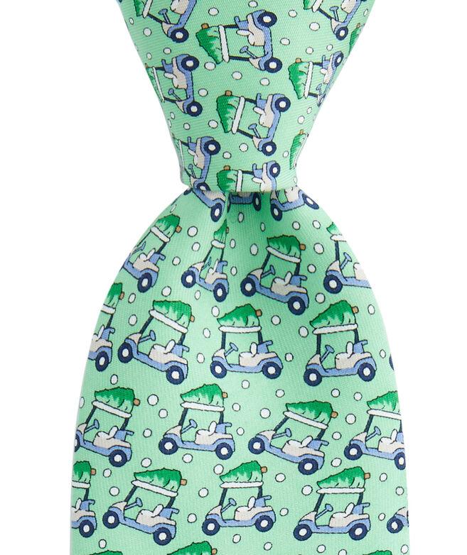 Boys Golf Cart & Tree Printed Tie