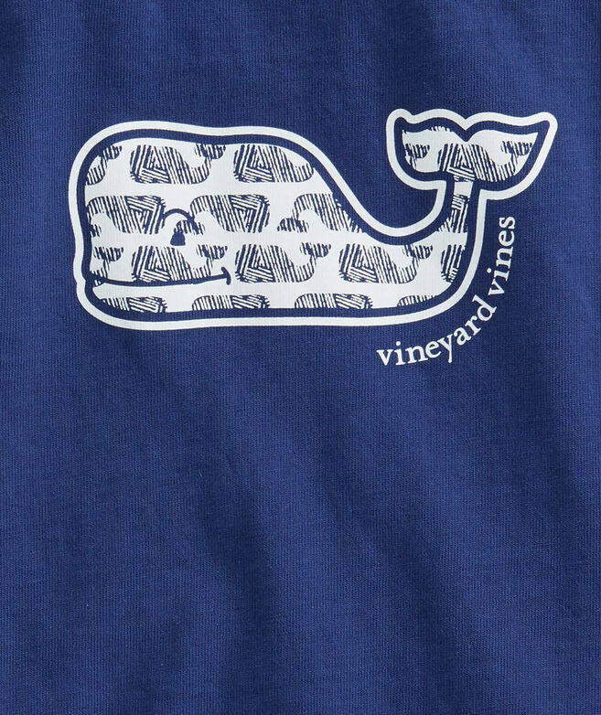 Girls Etched Whale Fill Swing Tee