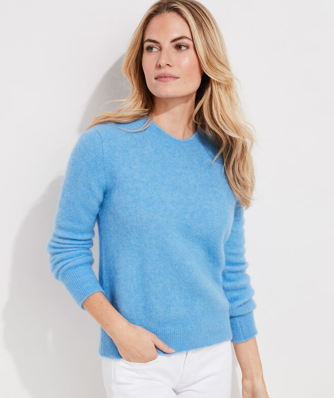 Eyelash Ultra Soft Fuzzy Crewneck Sweater