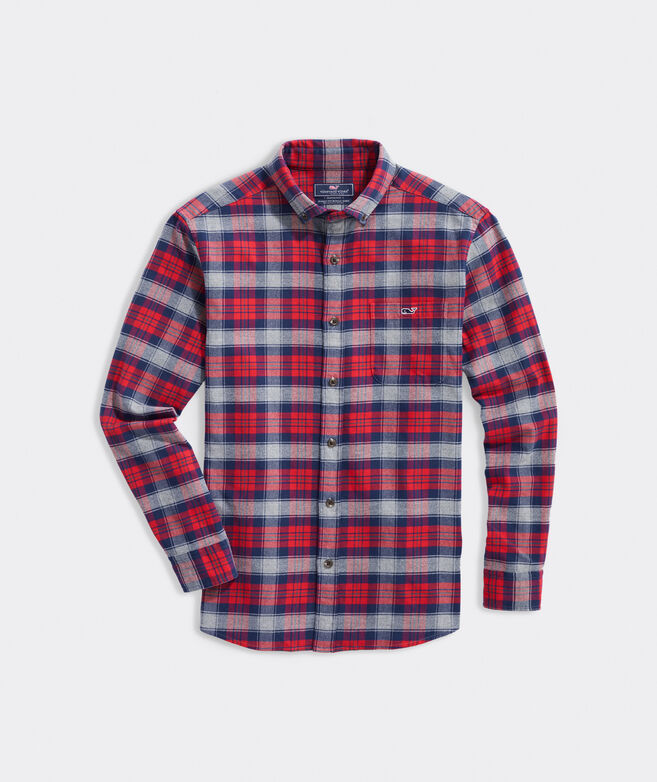 Big & Tall Classic Fit Plaid Flannel Tucker Shirt