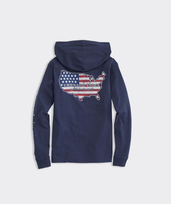 Boys' USA Long-Sleeve Hoodie Tee