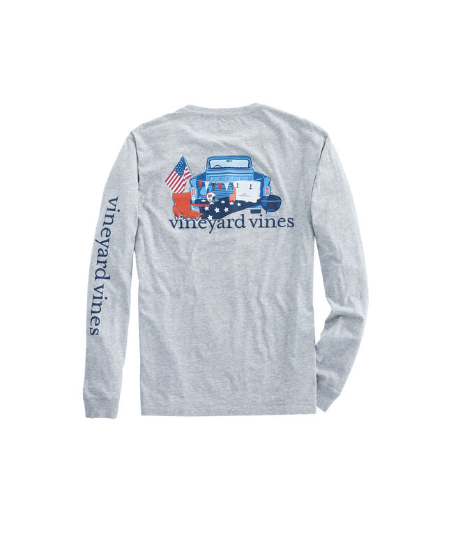 Long-Sleeve Americana Game Day Pocket T-Shirt