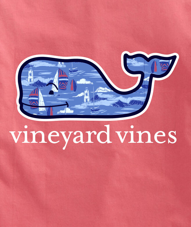 OUTLET Men's Vineyard Scene Whale Short-Sleeve Pocket Tee
