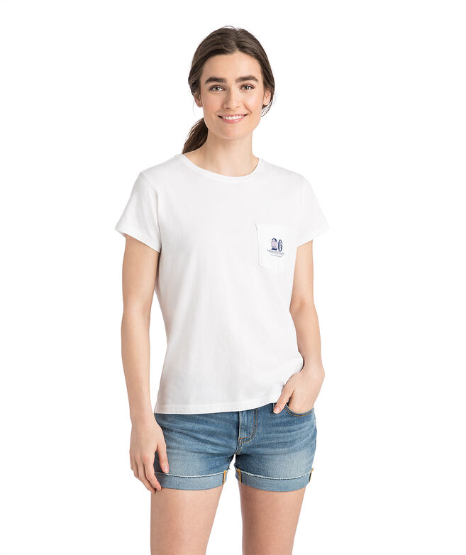 Womens 20th Anniversary Patchwork Whale Pocket Tee