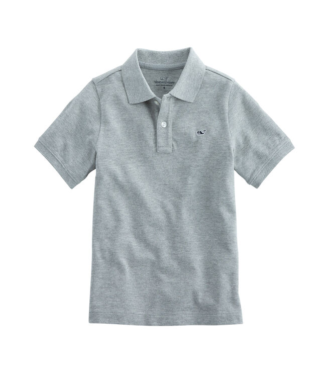Boys Heather Classic Pique Polo
