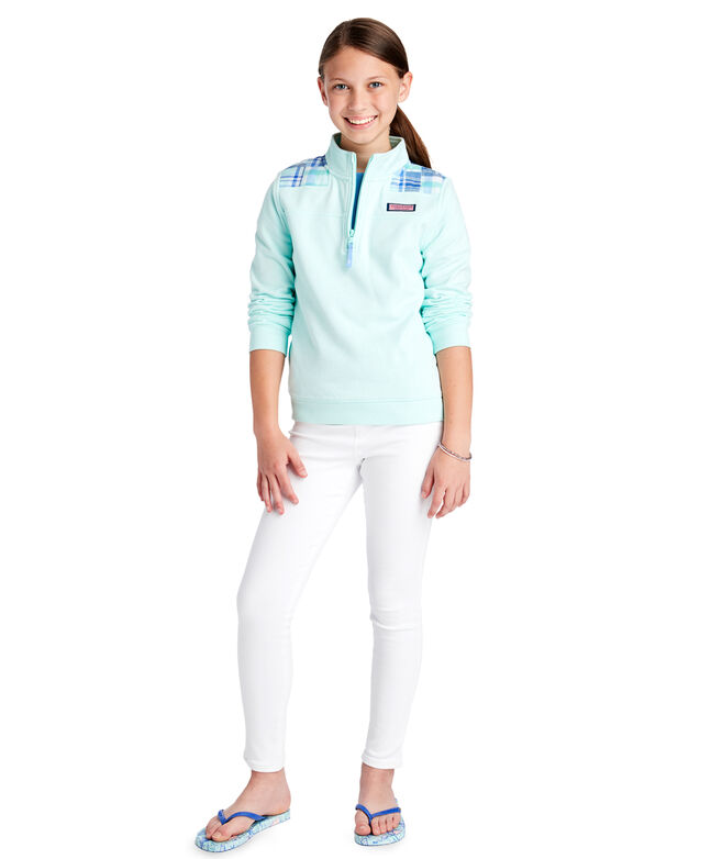 Girls Patchwork Madras Classic Shep Shirt
