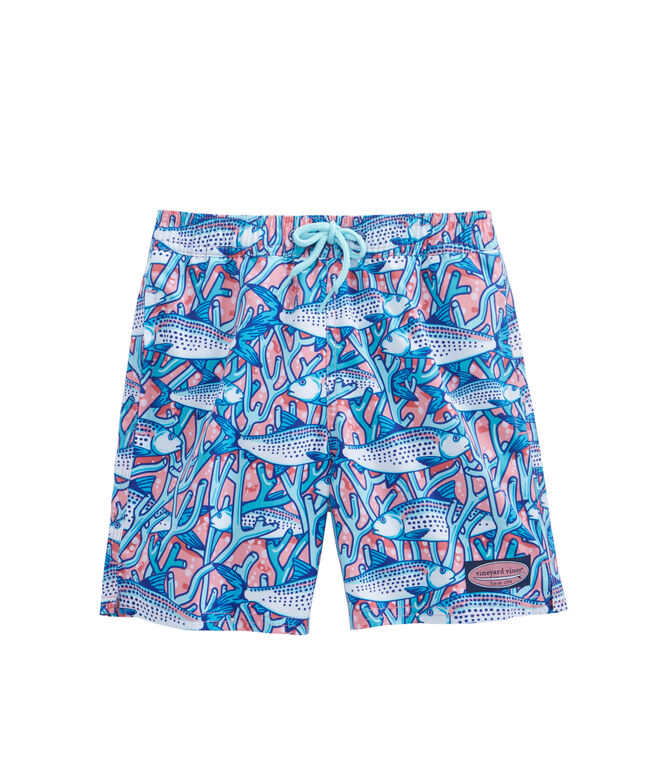 Boys Bonefish In Coral Chappy Trunks