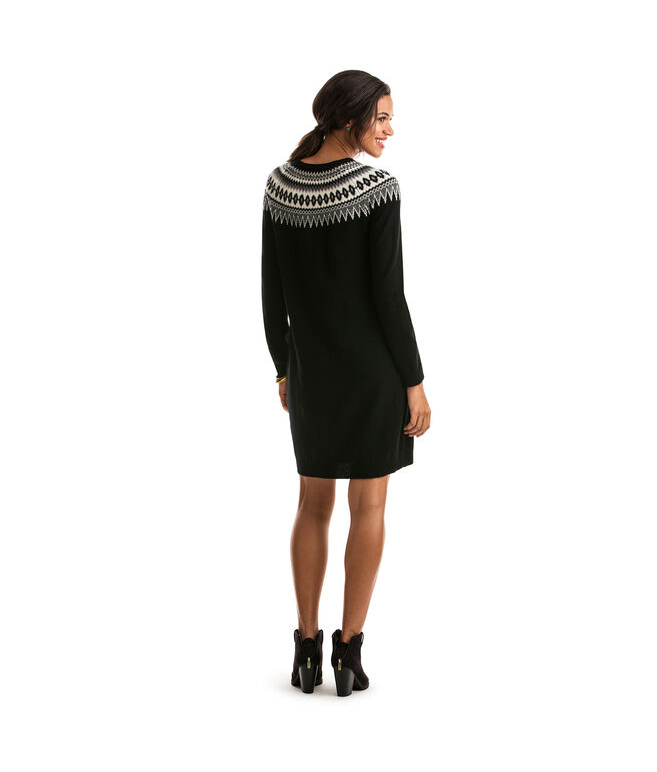 Shop Yoke Fair Isle Sweater Dress at vineyard vines
