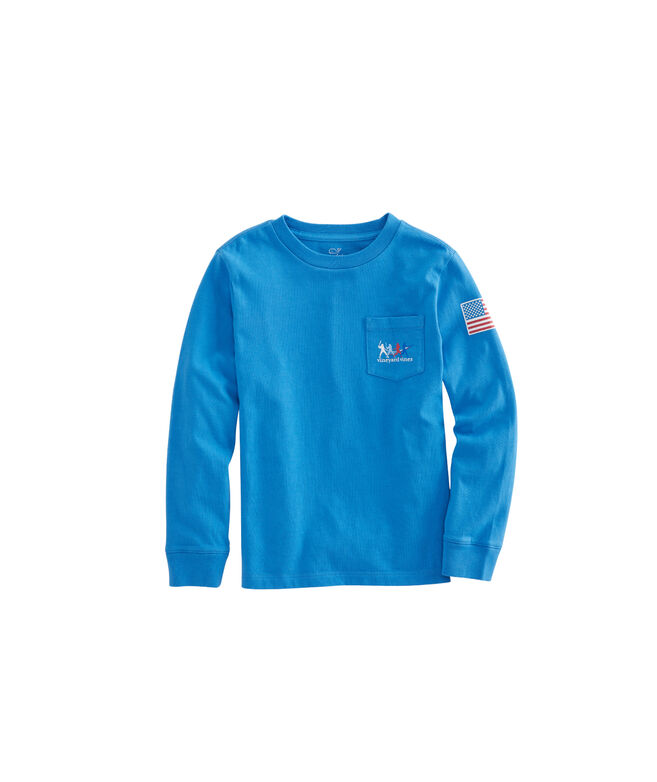 Boys Long-Sleeve Homerun Pocket T-Shirt