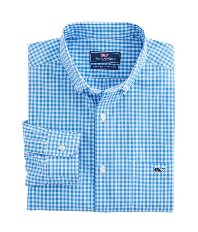 Seafloor Gingham Classic Tucker Shirt