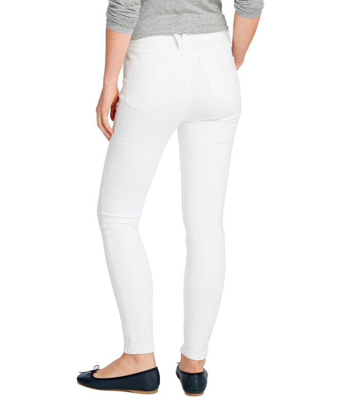Made in the USA Jamie High Rise White Denim