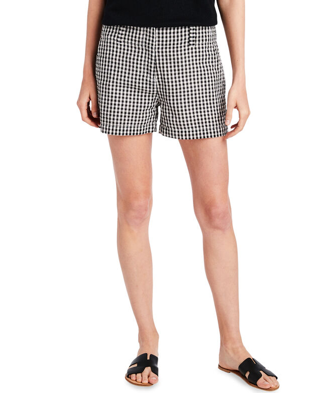 3 1/2 Inch Gingham Seersucker Every Day Shorts