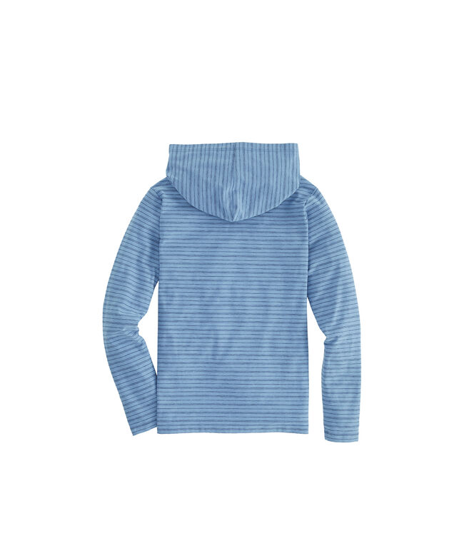 Boys Edgartown Reverse Feeder Stripe Long-Sleeve Hoodie Tee