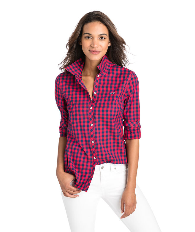 e2f32ba7 Shop Mini Gingham Classic Button Down at vineyard vines