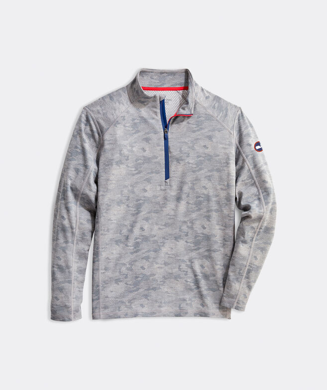 Limited-Edition USA Printed Camo Sankaty 1/2-Zip Pullover