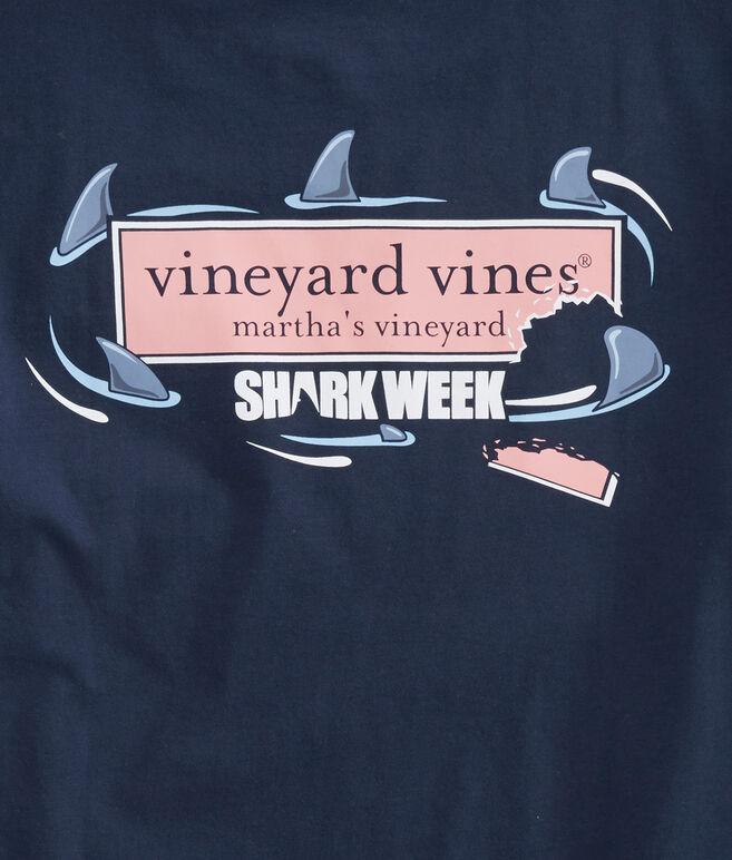 Mens Shark Week Circling Logo Box T-Shirt