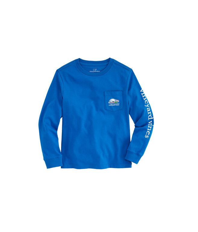 Boys Long-Sleeve Send It Pocket T-Shirt