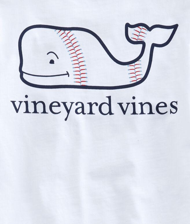 Boys Baseball Whale Pocket T-Shirt