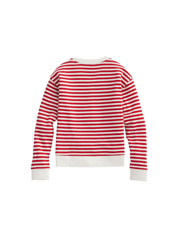 Girls Flip Sequins Stripe Sweatshirt