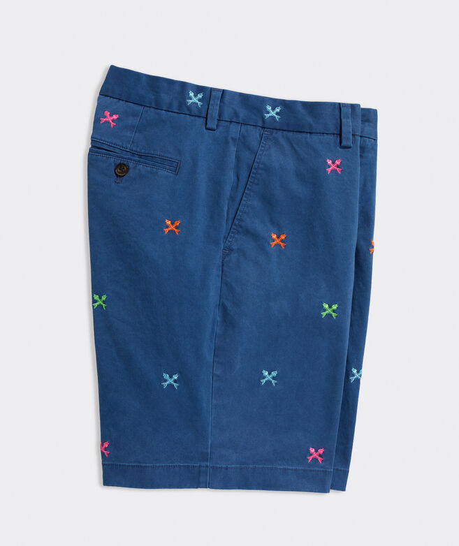 9 Inch Embroidered Breaker Short