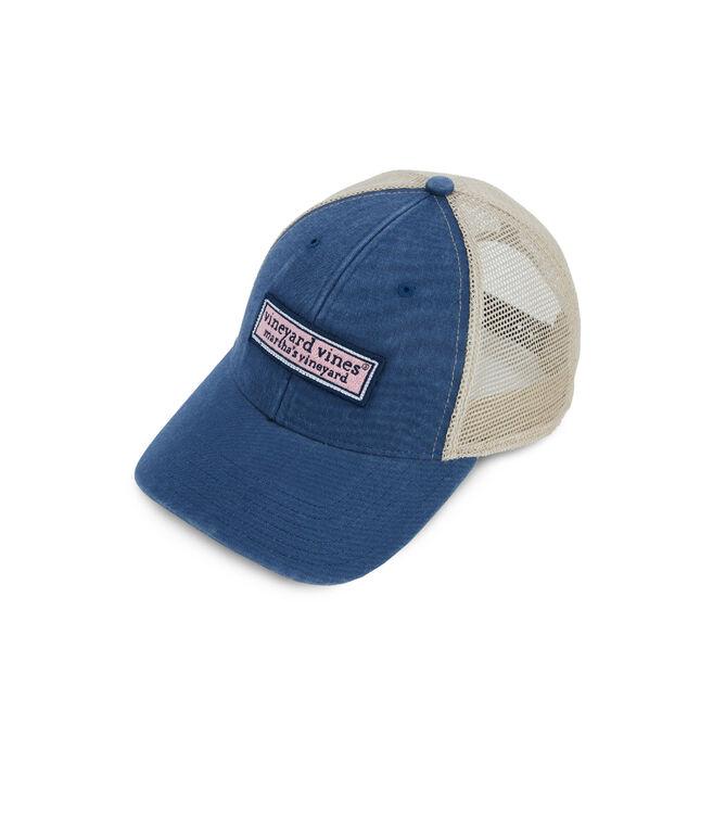 Logo Box Low Profile Trucker Hat