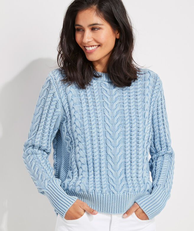 Sun-Washed Fisherman Sweater