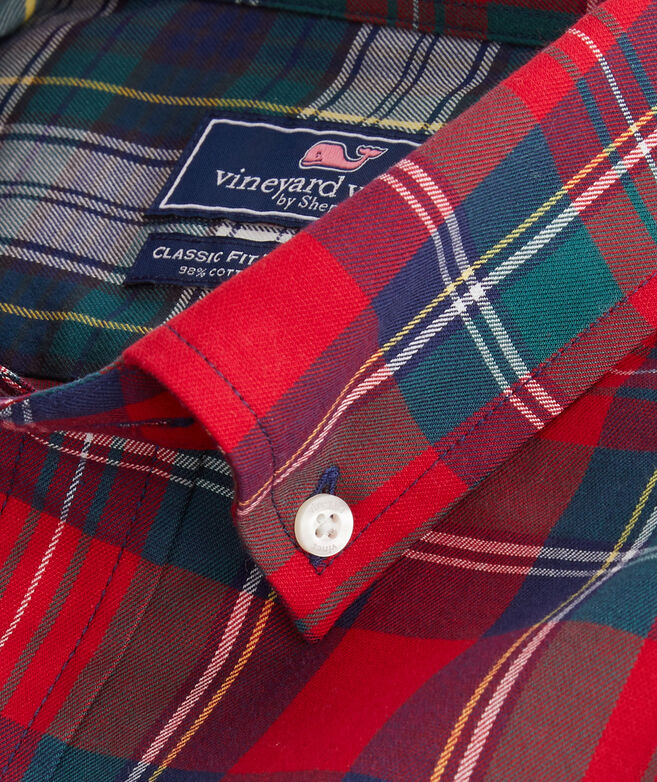 Classic Fit Party Twill Tucker Button-Down Shirt